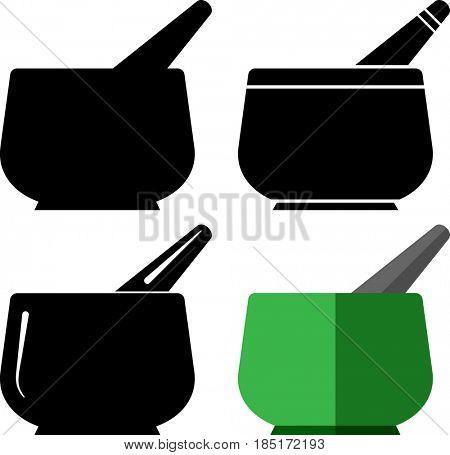 Mortar and Pestle  Raster Illustration
