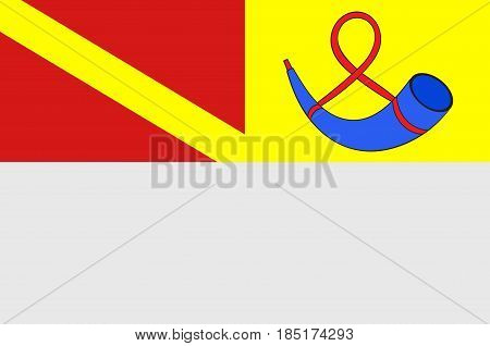 Flag of Lons-le-Saunier is a commune and capital of the Jura department in eastern France. Vector illustration