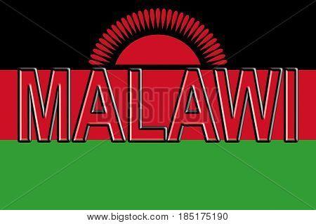 Flag Of Malawi Word