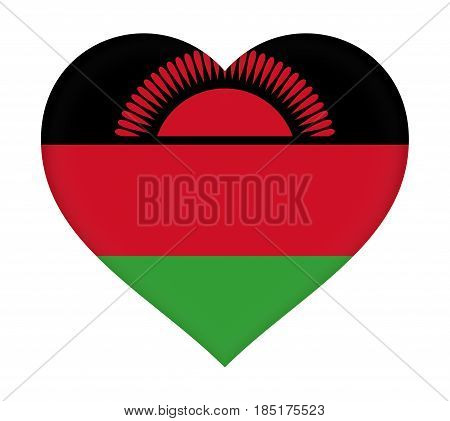 Flag Of  Malawi Heart