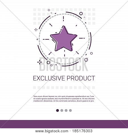 Exclusive Product Shopping Banner With Copy Space Thin Line Vector Illustration