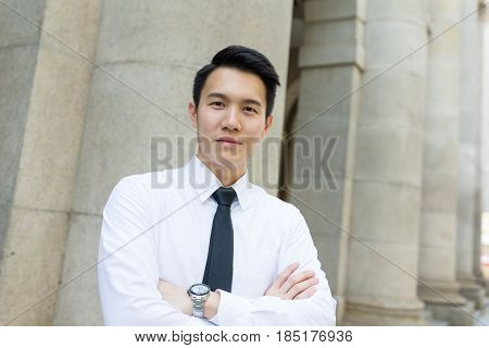 Young asian Businessman at outdoor