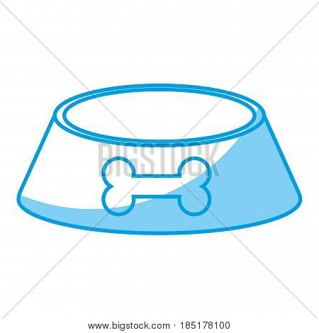 pot food bowl with dow paw icon over white background. vector illustration