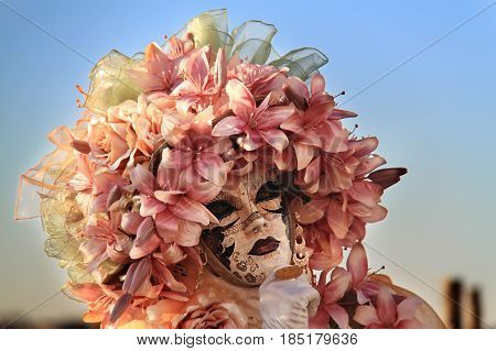 Venice carnival costume and mask, year 2016.
