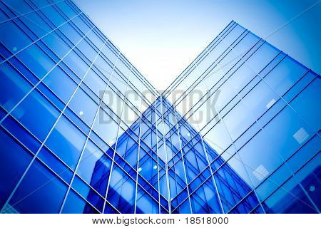 modern glass business center poster