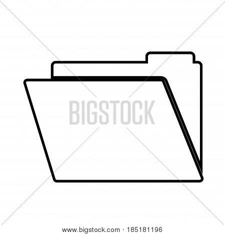 document folder icon over white background. vector illustration