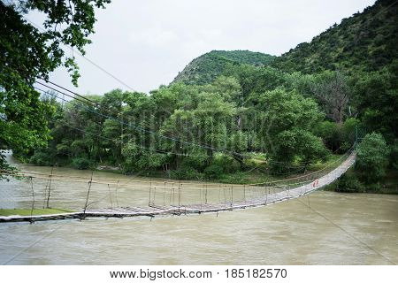 Suspension Bridge In Georgia