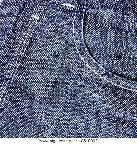 close-up of Jeans pocket
