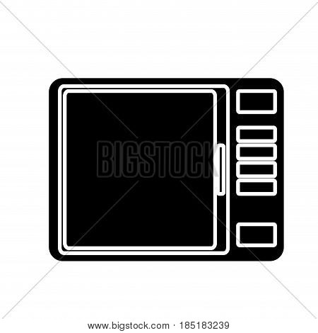 microwave icon over white background. home appliances design. vector illustration