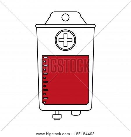 color silhouette image bag for blood donation vector illustration