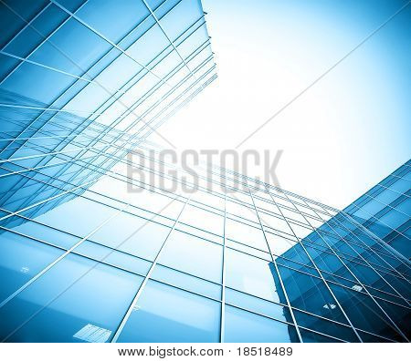 glass building perspective view