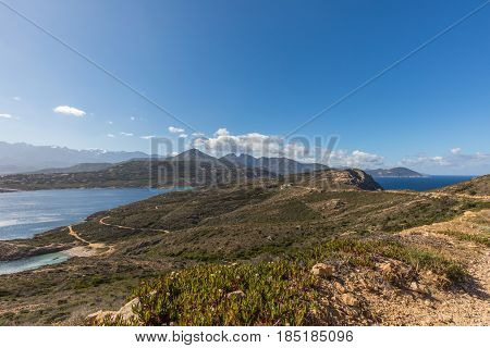 View Of West Coast And Mountains Of Corsica