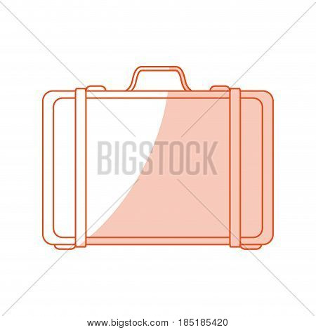red silhouette shading image cartoon travel briefcase with handle vector illustration