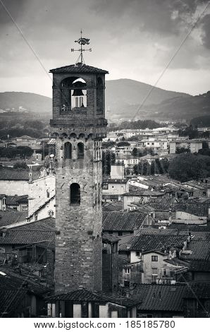 Torre delle Ore clock tower in Lucca Italy