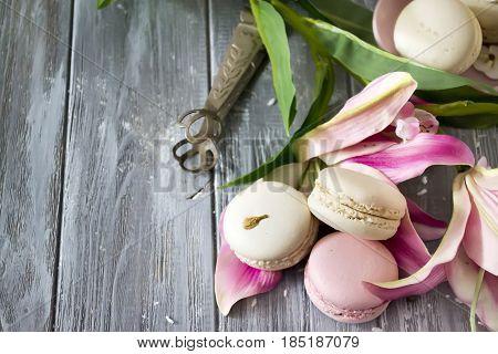 Sweet Vanilla Macaroons French