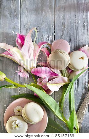Sweet Vanilla Macarons French
