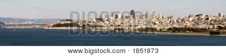San Francisco Skyline Full City Panorama