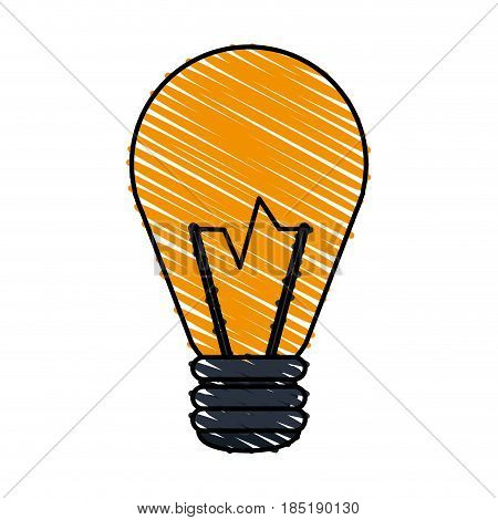 color crayon stripe image cartoon halogen light bulb vector illustration