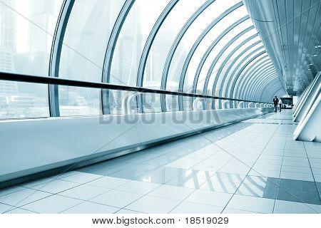Verglasten Korridor im Office center
