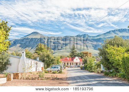 GREYTON SOUTH AFRICA - MARCH 27 2017: A street scene in Greyton a small town in the Western Cape Province of South Africa