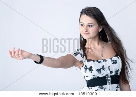 attractive girl inviting to come nearer