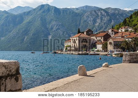 Perast is an old town on the Bay of Kotor in Montenegro. It is situated a few kilometres northwest of Kotor and is noted for its proximity to the islets of St. George and Our Lady of the Rocks