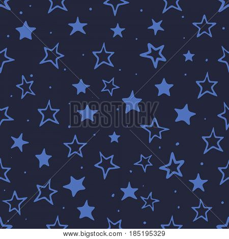 seamless pattern with blue stars.Background for wrapping or other typography