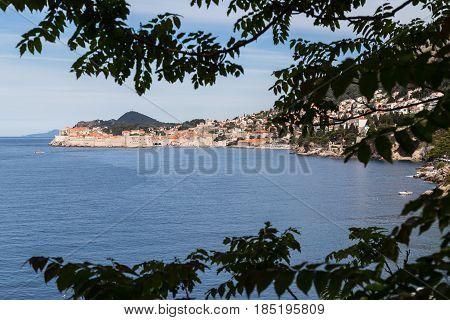 The medieval city of Dubrovnik (in the far southern corner of Croatia's Dalmatia region) sparkling in the spring sunshine.
