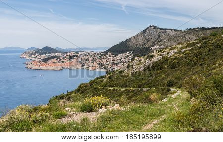 The breath-taking views of Dubrovnik's beautiful old town seen from Park Orsula.