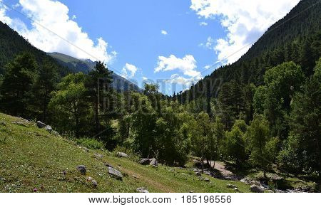 Mountain slopes. Photo taken on: July 27 Saturday 2013