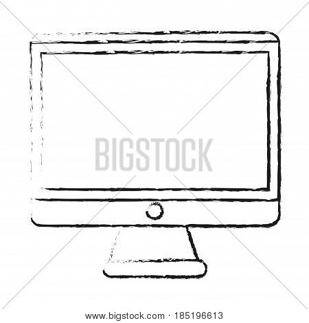 blurred silhouette image square lcd monitor screen vector illustration