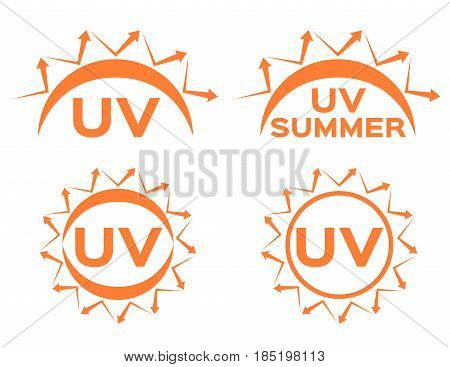 uv protection vector icon for summer on white background