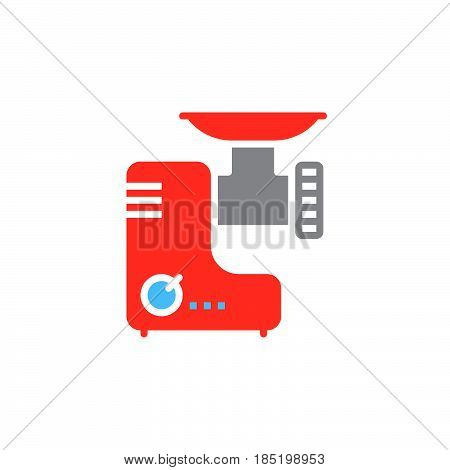 Meat grinder icon vector electric mincer solid flat sign colorful pictogram isolated on white logo illustration