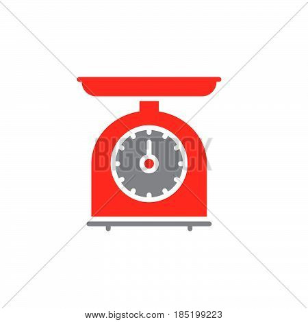Kitchen Scales icon vector solid flat sign colorful pictogram isolated on white logo illustration