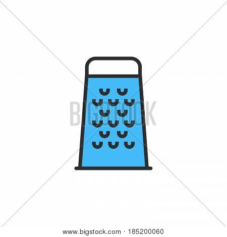 Food Grater line icon filled outline vector sign linear colorful pictogram isolated on white. logo illustration
