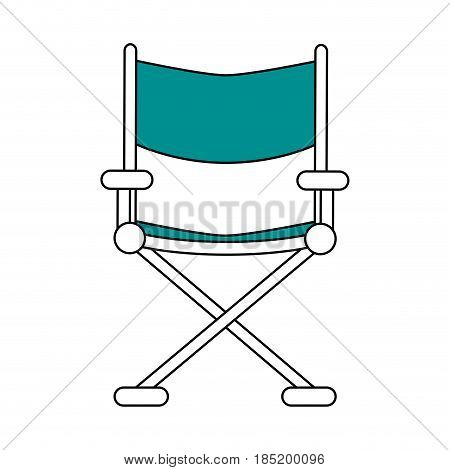 color silhouette image cinema director chair vector illustration