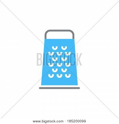 Food Grater icon vector solid flat sign colorful pictogram isolated on white logo illustration