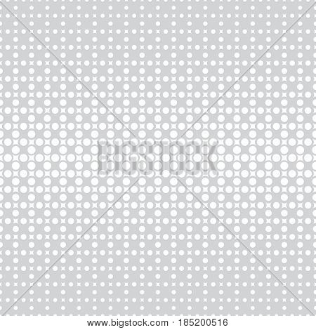 Vector seamless pattern. Abstract halftone background. Modern stylish texture. Repeating grid with rhombuses and dots of the different size. Gradation from bigger to smaller.