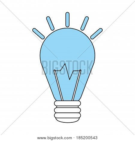 color silhouette image halogen light bulb on with shiny vector illustration