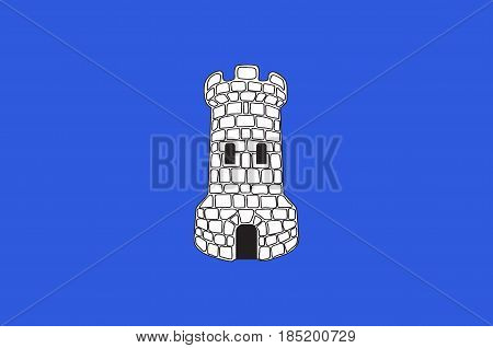 Flag of Avallon is a commune in the Yonne department in Bourgogne-Franche-Comte in central-eastern France. Vector illustration