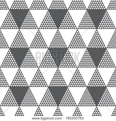 Vector seamless pattern. Modern stylish texture. Regularly repeating hexagonal grid with triangles. Element of graphical design