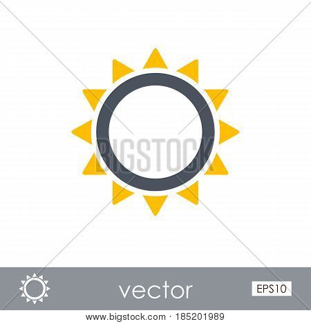 Sun outline vector icon. Beach. Summer. Summertime. Vacation eps 10