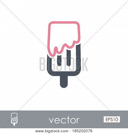 Ice Cream outline vector icon. Beach. Summer. Summertime. Vacation eps 10