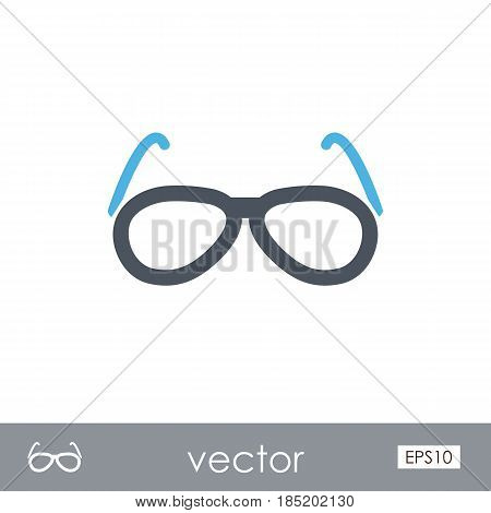 Sunglasses outline vector icon. Beach. Summer. Summertime. Vacation eps 10