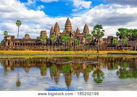 Angkor Wat Temple Siem reap in Cambodia.
