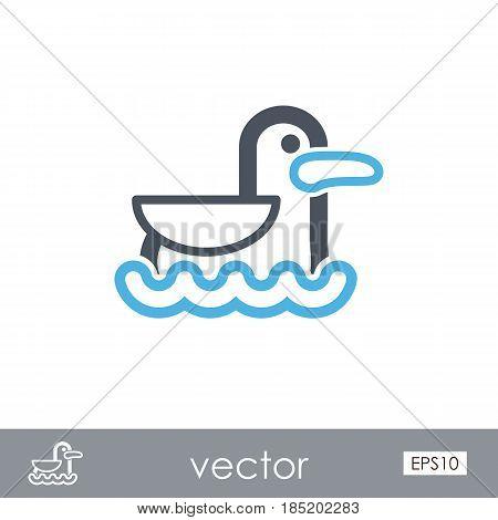 Seagull outline vector icon. Beach. Summer. Summertime. Vacation eps 10