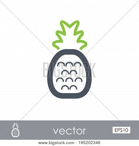 Pineapple outline vector icon. Beach. Summer. Summertime. Vacation eps 10