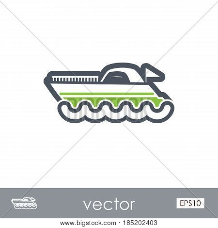 Ship Boat outline vector icon. Beach. Summer. Summertime. Vacation eps 10