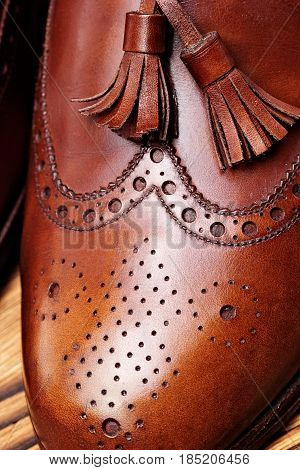 Fashion Classical Polished Men's Brown Oxford Brogues
