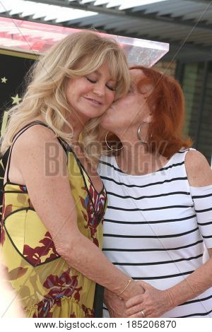 LOS ANGELES - MAY 4:  Goldie Hawn, Sister at the Kurt Russell and Goldie Hawn Star Ceremony on the Hollywood Walk of Fame on May 4, 2017 in Los Angeles, CA